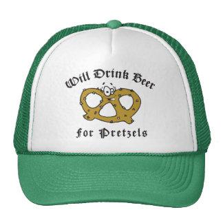 Will Drink Beer For Pretzels Mesh Hats