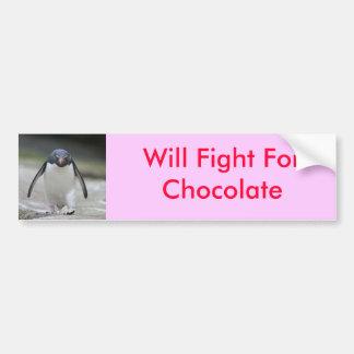 Will Fight For Chocolate Bumper Sticker