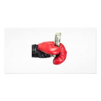 Will fight for money custom photo card