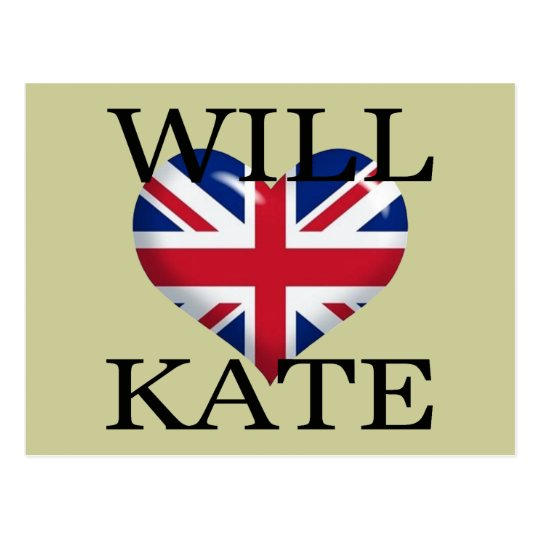 Will Heart Kate 1 Postcard