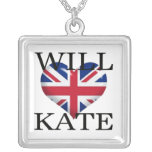 Will Heart Kate 1 Square Pendant Necklace