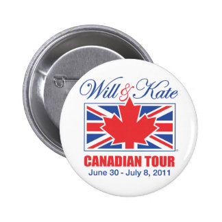 WILL & KATE CANADIAN TOUR 6 CM ROUND BADGE