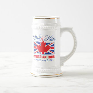 WILL & KATE CANADIAN TOUR BEER STEINS