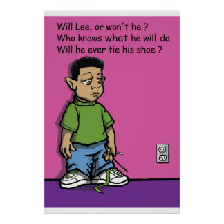 Will Lee or won t he poster