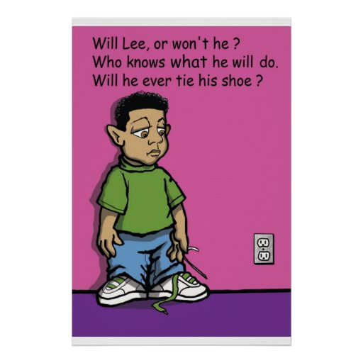 Will Lee or won't he poster