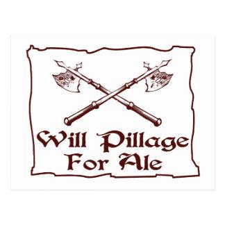 Will Pillage Postcard