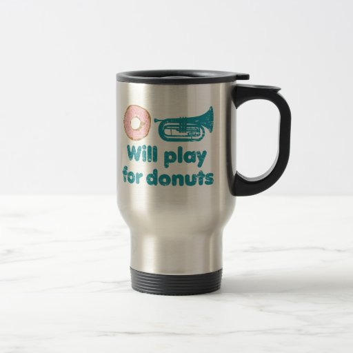 Will Play Baritone for Doughnuts Stainless Steel Travel Mug
