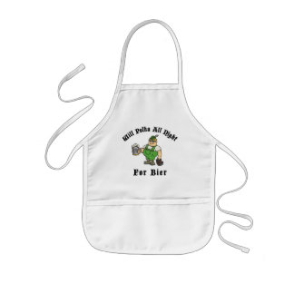 Will Polka All Night For Bier T-Shirt Gift Kids Apron