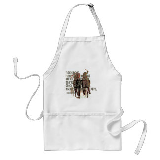 Will Rogers Horse Racing Quote Standard Apron