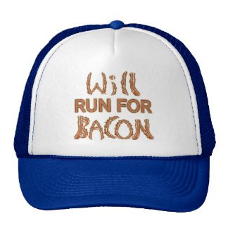 WILL RUN FOR BACON Running Tees & Gear Mesh Hat