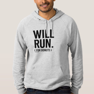 Will Run for Donuts -  .png Hoodie