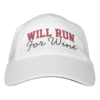 Will Run for Wine, Funny Running Runners Hat