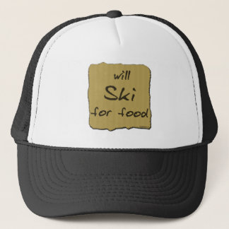 Will Ski For Food Trucker Hat