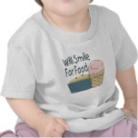 Will Smile for Food Tshirts