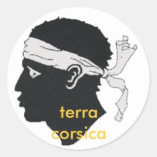 will terra Corsica of stiker Classic Round Sticker