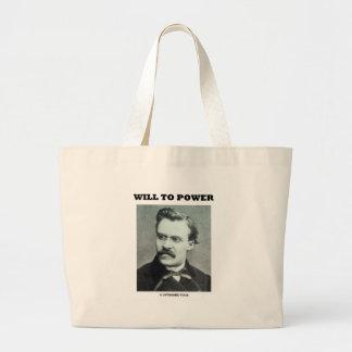 Will To Power (Friedrich Nietzsche) Jumbo Tote Bag
