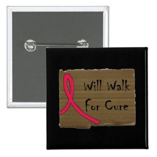 Will Walk For Cure Button