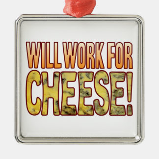 Will Work Blue Cheese Silver-Colored Square Decoration