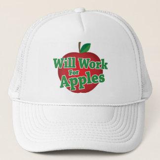 Will Work for Apples Trucker Hat
