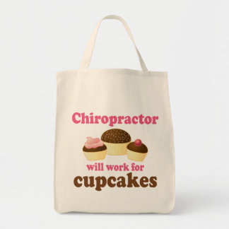 Will Work For Cupcakes Chiropractor Bags