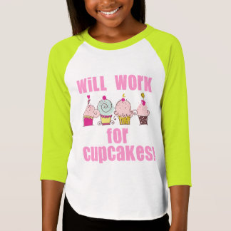 Will Work for Cupcakes Kids T-Shirt