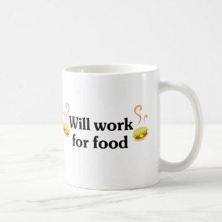 Will work for food basic white mug