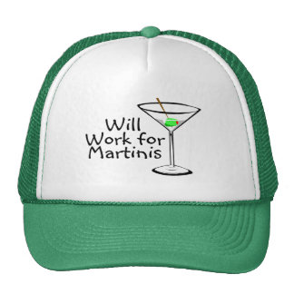 Will Work For Martinis Cap