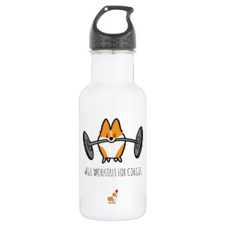 Will Workout For Corgis Water Bottle
