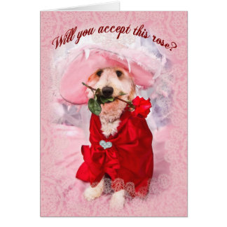 Will you accept this rose?  Kati's Collection Greeting Card
