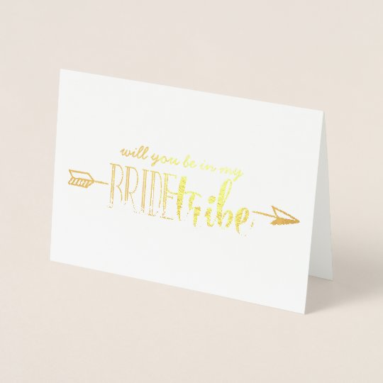 Will you be in my Bride Tribe card