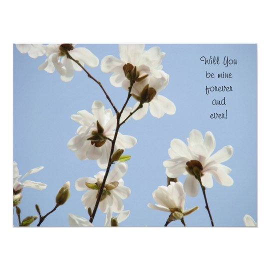 Will You be mine forever and ever! prints Magnolia