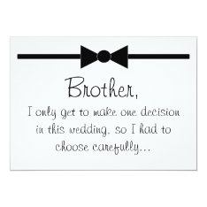 Will you be my best man 13 cm x 18 cm invitation card at Zazzle