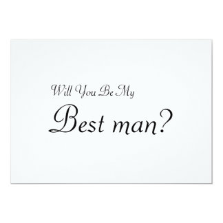 Will You Be My Best man 13 Cm X 18 Cm Invitation Card