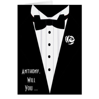 will you be my best man ? be my groomsman stationery note card