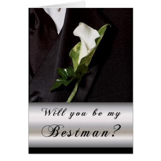 Will you be my Best Man? Greeting Cards