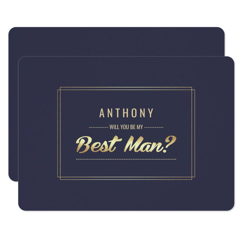 Will you be my Best Man? Custom Invitations