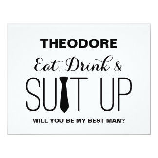 Will you be my Best Man ? | Groomsman 11 Cm X 14 Cm Invitation Card