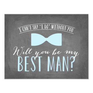 Will you be my Best Man? | Groomsmen 11 Cm X 14 Cm Invitation Card