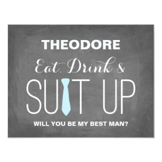 Will you be my Best Man ? | Groomsmen Card