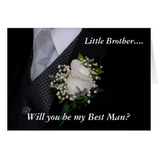 Will You Be My Best Man Little Brother Card