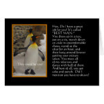 Will You Be My Best Man? Penguin Humour Card