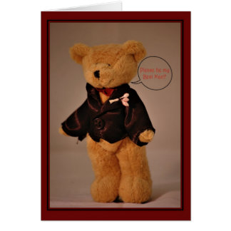Will you be my Bestman? Greeting Card