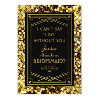 Will You Be My Bridesmaid | 1920s Great Gatsby Card