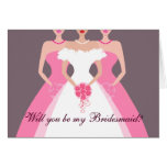 Will you be my Bridesmaid? Bridal Party (pink)