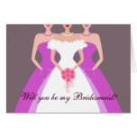 Will you be my Bridesmaid? Bridal Party (purple)