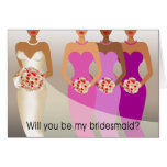 Will you be my Bridesmaid? Bridal Party | purple