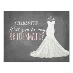 Will You Be My Bridesmaid | Bridesmaid 11 Cm X 14 Cm Invitation Card at Zazzle