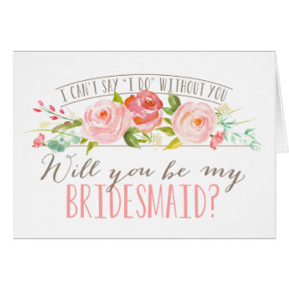 Will You Be My Bridesmaid | Bridesmaid Note Card