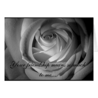 Will You Be My Bridesmaid BW Rose Card