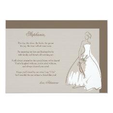 Will You Be My Bridesmaid Card 13 Cm X 18 Cm Invitation Card at Zazzle